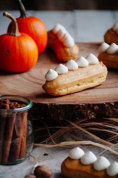 Pumpkin Pie Éclairs —