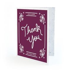 Fancy Vintage Seed Paper Thank You Card