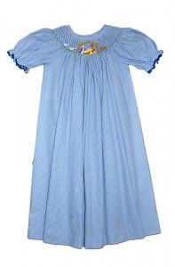 Claire Amp Charlie Girls Light Blue Corduroy Smocked