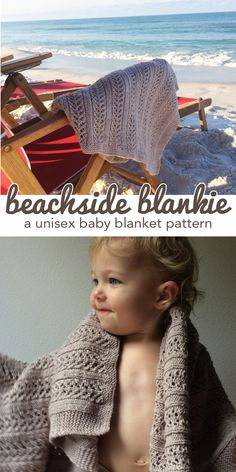 Perfect baby blanket for boy or girl. Plus, it's a simple 4-row repeat so it's a fast and fun knit! Download the pattern or purchase a kit! #knitting
