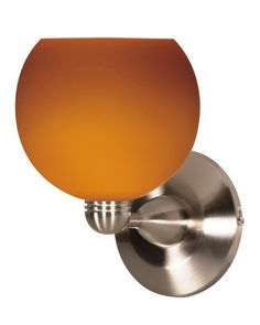 Nuvo Lighting 60-693 One Light Wall Sconce in Brushed Nickel Finish and Butterscotch Sphere Glass