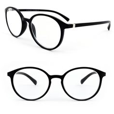 dec8e7f7b9a Black Matte Finish Classic Round Frame Geek Retro Style Light Weight Spring  Hinges Reading Glasses Hello
