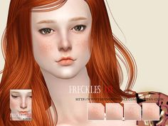 The Sims Resource: Freckles 03 by S-Club • Sims 4 Downloads