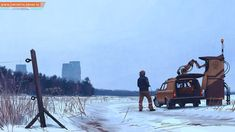 Painting by the amazing Swedish artist Simon Stalenhag