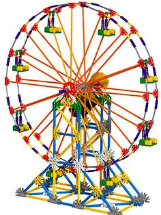 K'Nex... yep, I was that girl that loved to play with K'Nex. I built this ferris wheel many times!