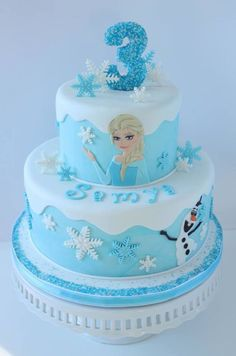 Frozen Cake With Elsa Amp Olaf on Cake Central