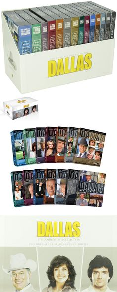 cds dvds vhs: Dallas: The Complete Dvd Collection - Seasons 1-14 + 3 Movies [Dvd Set, 57-Disc] -> BUY IT NOW ONLY: $159.99 on eBay!