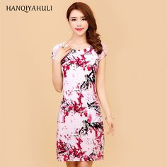 89f9fec2f5fd L 5XL summer style 2017 women dress Silk printed plus size vestido feminino  womens clothing loose casual dresses-in Dresses from Women s Clothing ...
