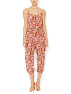 Silk Shirred Jumpsuit by Tucker