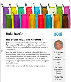 "bubi bottle got featured in The Grommet ""Makers Who Made It"" eBook!! (#thegrommet #grommet #bubibottle ): http://www.bubibottle.com/blog/the-grommets-new-ebook-/"