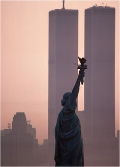 World Trade Center and the Statue of Liberty, New York City
