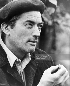 American actor Gregory Peck in a still from director Fred Zinnemann's film, 'Behold a Pale Horse', set during the Spanish Civil War. Behold A Pale Horse, Fred Zinnemann, Toms Style, Gregory Peck, Guernica, Newsboy Cap, Boater, American Actors, Mens Fashion