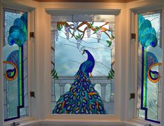peacock quilt | Stained Glass Pattern Club Patterns- Stained Glass Pattern CD and
