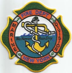 "New York City - Marine Division  1-2-6-9 ""Never Run Dry-#2"" (4"" x 4"") fire patch"