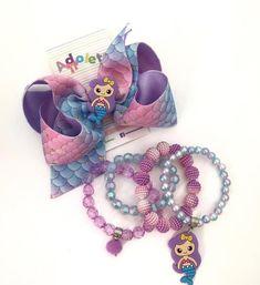 Bracelet Holders, Ribbon, Hair Accessories, Beaded Bracelets, Bows, Jewelry, Mickey Mouse, Cute Bracelets, Toddler Jewelry