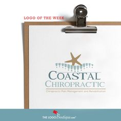 logo design for coastal chiropractic by the logo boutique - sea inspired logo - #starfish #chripracticlogo