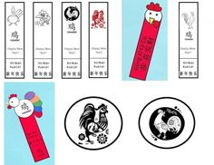 This site has lots of ideas for printable crafts for the Year of the Rooster--including lots of bookmarks  Chinese New Year, Spring Festival, art projects, children, kids