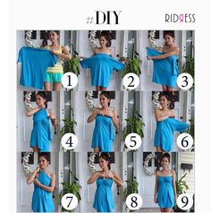 Turn your boyfriend's old t-shirts into a dress with this awesome #DIY! #DIY #TryNow #Boyfriend #OldToNew #Dress #Awesome #Fashionistas #FashionGirls #LoveForFashion #Fashion #FameFashion #Love #StyleDiaries #Itsallinthedetails #Shopaholics #DressUp #RIDRESS