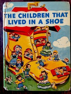 THE CHILDREN THAT LIVED IN A SHOE ~ Vintage Children's Rand McNally Elf Book ~