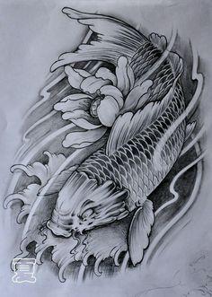 品牌、pppp Koi Tattoo Design, Japan Tattoo Design, Forearm Tattoo Design, Tattoo Design Drawings, Pez Koi Tattoo, Koi Dragon Tattoo, Japanese Tattoo Art, Japanese Tattoo Designs, Best Sleeve Tattoos
