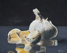 Oil Painting by Emily Page #food #stilllife #garlic
