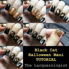 20 Easy Step By Step Halloween Nail Art Tutorials For Beginners 2015 - Pepino Nail Art Design Hot Nails, Hair And Nails, Diy Bottle Cap Crafts, Trendy Haircuts, Halloween Nail Art, Nail Artist, Christmas Nails, Nail Care, Art Tutorials