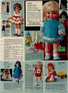 1974 Advertisement Doll Shirley Temple Mary Poppins Heidi Dusty Derry Daring…