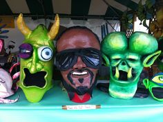 Some big heads at Jazz Fest.