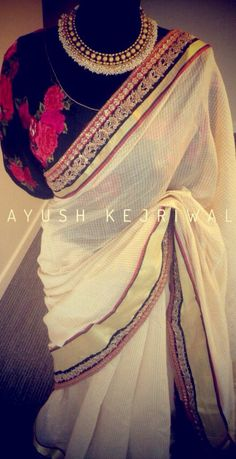 Saree by Ayush Kejriwal For purchase enquires email me at ayushk@hotmail.co.uk or whats app me on 00447840384707. We ship WORLDWIDE. #sarees,#saris,#indianclothes,#womenwear, #anarkalis, #lengha, #ethnicwear, #fashion, #ayushkejriwal,#Bollywood, #vogue, #indiandesigners
