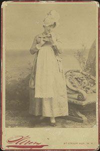 Photograph [Cabinet photograph]. New York: Sarony [1887]. Geraldine Ulmar as Rose Maybud in D'Oyly Carte's New York production of Ruddygore.