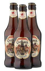 Wychwood Goliath is traditionally craft-brewed with Pale and Crystal Malts for a sturdy ruby colour and rich malty taste. With a hefty whack of English Fuggles and Styrian Goldings hops for a classic refreshing bitterness. Slay your thirst!