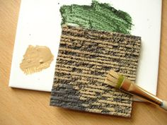 creating miniature textures with foamcore