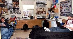 A room in Skeath Hall at Lycoming College