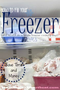 Freezer cooking days can be so overwhelming. Sure they save you money and time in the future, but what if you could fill your freezer without spending one Saturday cooking? It's a whole lot easier than you think, and you can start today.