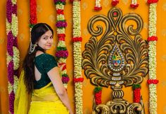 Telugu bride on her pelli kuthuru function