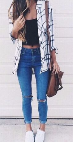 26 Cheap Ripped Jeans You Must Buy This Fall - Style Spacez I just adore this pair of ripped. This distressed denim jeans go well with all my crop tops and blouses and shirts.These are amazing for fall,winter,summer and casual,spring wear. These are some of the best ripped jeans that I like.These list includes skinny jeans,distressed Denims,boyfriend Jeans,Blue Denim Ripped Jeans Outfit Ideas.