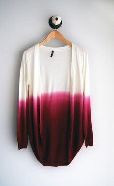 Raspberry Ombre Cardigan- Even though this in no way follows my style or color scheme, I'm drawn to it every time!