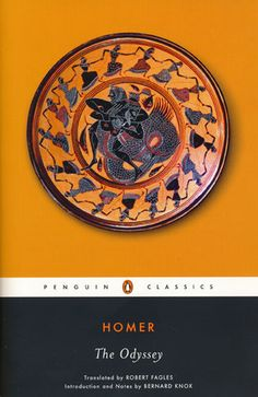 """The Odyssey by Homer. University Library / PA 4025 A5 J67 2014 """"I could start this list with Walter Scott's Ivanhoe or possibly Defoe's Robinson Crusoe, but The Odyssey, although it's an epic poem rather than a novel of course, strikes me as the most fitting way to begin. As an archetype of the adventurer, Odysseus is hard to beat, and his adventures–like all the best adventures–are both literally thrilling, and metaphorically and symbolically full of implication.""""  Ian McGuire"""