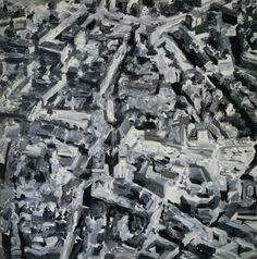 Gerhard Richter, Stadtbild F (Townscape F) 1968, 200 cm x 200 cm, Catalogue Raisonné: 177-1, Oil on canvas