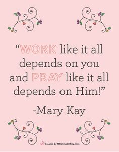 God first, family second, career third. One of the mail reasons why she succeeded.. Had the priorities together. Visit my website www.marykay.com/sperez-colon