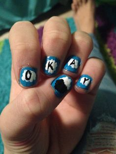 In love!!! The Fault In Our Stars nails!!!