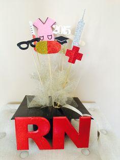 Nursing graduation centerpiece