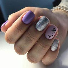 22 Elegant Flower Nail Designs Ideas - Nails C Love Nails, Fun Nails, Pretty Nails, Flower Nail Designs, Nail Art Designs, Nails Polish, Best Nail Polish, Acrylic Nails, Gel Nail Art