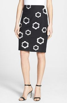 Adrianna Papell Floral Embroidered Pencil Skirt available at #Nordstrom
