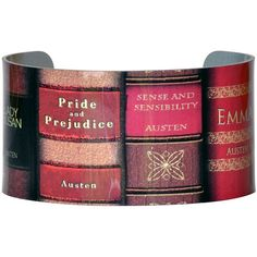 Amazon.com: Jane Austen Wide Cuff - Jane Austen Books Aluminum... ($20) ❤ liked on Polyvore featuring jewelry and bracelets