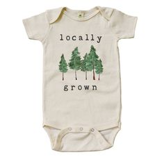 "Organic ""Locally Grown"" Forest Edition Onesie"