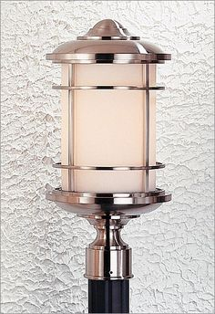 Photo of Murray Feiss Lighthouse Pier or Post Lantern in Brushed Steel (Lighting, Exterior Lighting, Murray Feiss)