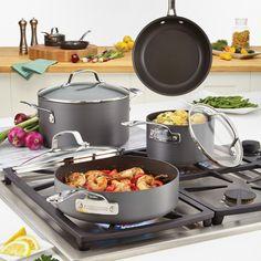 Circulon Genesis Hard-Anodized Nonstick 10-piece Cookware Set - Overstock™ Shopping - Great Deals on Circulon Cookware Sets