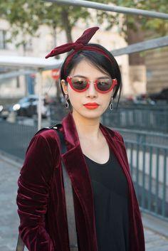 Trend Samt + Haarbänder #velvet #hair