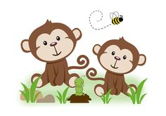 MONKEY NURSERY DECAL Safari Jungle Animal Boy Wall Art Mural Stickers Baby Room Decor Childrens Bedroom Kids Honey Bumble Bee Decorations #decampstudios